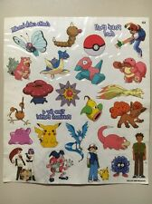 NEW Rare Vintage POKEMON (1999) temporary tattoos