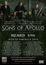 "SONS OF APOLLO / FELIX MARTIN / SIFTING ""NORTH AMERICA 2018"" CONCERT TOUR POSTER"
