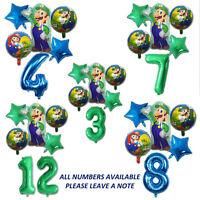 Luigi Birthday Balloons Super Mario Nintendo Video Game Kids Gender Reveal Party