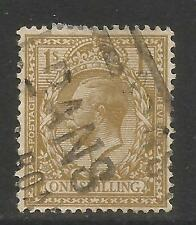 Great Britain 1912-13 King George V 1sh bister (172) used