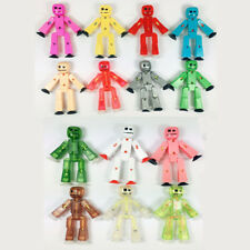 Lot Zing Stikbot different styles easy to pose figurines Pets/Orange/Clear/Blue