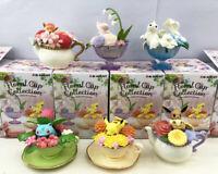 6pcs/set Anime Pokemon Miniature Floral Cup Decoration Teacup Figure Boxed
