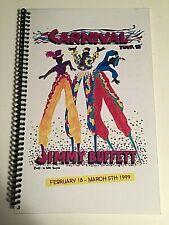 Jimmy Buffett Carnival Tour 1998-99 Itinerary spiral bnd orig. w/7 cloth badges
