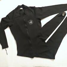Body Glove Full Body Zip-up Wet Suit Large Black Surf Nylon Spandex