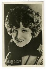 1920's Vintage Movie Star AGNES AYRES antique Italian photo postcard