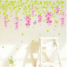 Flower Vine Butterfly Wall Art Sticker Removable Decal Kids Girls Bedroom Decor