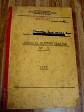 CHILE, TOP SECRET MILITARY DOCUMENTS (331 PAGES), ORIGINAL SIGNATURES YEAR 1976