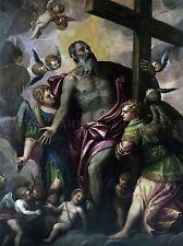 PAOLO VERONESE WERKSTATT GOTTVATER HE€ŽLT KREUZ OLD ART PAINTING PRINT 2031OMLV