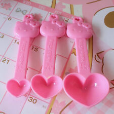 3pcs Cute Hello Kitty Measuring Spoon Set For Baking Coffee Sugar Kitchen Kit
