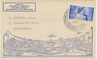2453 1948 2 ½D Wedding cvr FirstDay Postmark 30th PHILATELIC CONGRES BOURNEMOUTH