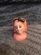 Rare Vintage 50s porcelain head vase