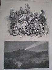 Prisonniers de la Française Garde Impériale de Metz 1870 Old Print Ref Z3