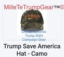 Official Authentic Trump 2024 CAMO Save America Campaign hat Cap