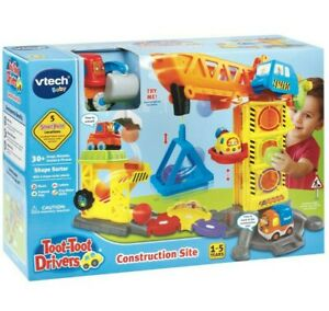 NEW VTech Baby Construction Site Toot Toot Drivers Educational Activity Toy Kids