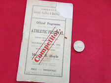 BRIGHOUSE Cricket & Cycling Club ATHLETIC  Festival 14/6/30 Orig. 1930 Programme