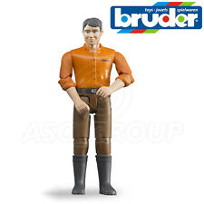 Bruder Toys 60007 Man Driver Figure for 1:16 Scale Toy Models with Movable limbs