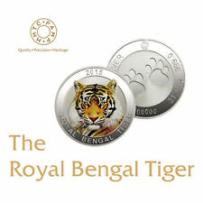 31.10 gms 999 Silver royal bengal tiger mmtc pamp coin - limited edition