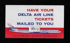 DELTA AIR LINES 1961 TICKETS BY MAIL DC-8 BIG JETS AD/MAILER