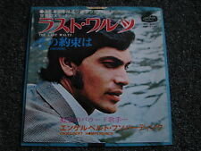 Engelbert Humperdinck-The Last Waltz 7 PS-Japan-1968-Pop-45 U/min-London-Single