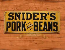 "TIN-UPS TIN SIGN ""Snider's Pork And Beans"" Kitchen Food Rustic Wall Decor"