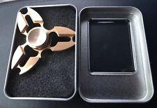 FIDGET Hand Finger Spinner Aluminum Metallic GOLD Brand New FAST SHIPPING
