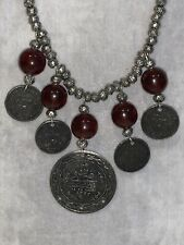 Antique Middle East Coin Beads Necklace Some Authentic Antique Coins