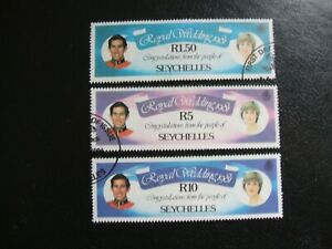 Seychelles 1981 Royal Wedding Prince Charles and Diana Spencer. Used Ex FDC.