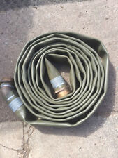 Lay Flat Green Hose 33ft Long Bore 6cm bronze ends EX-MOD New / Unused