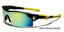 Khan Polarized Mirror Lens Mens Fishing Cycling Baseball Sport Wrap Sunglasses