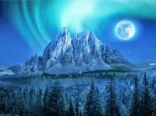 "Northern Lights Over Mountain Landscape Jigsaw Puzzle 285 Pieces 16.5""X12"" Piece"