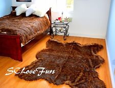 "58"" X 72"" Grizzly Bearskin Faux Fur Area Rug Plush Lodge Cabin Accents Decors"