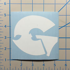 "GZA Wu Tang 5"" White Vinyl Decal Sticker BOGO"