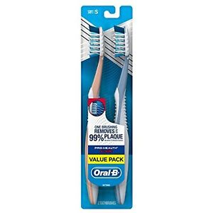 Oral-B Pro-Health All-In-One (Soft) CrossAction Bristles Toothbrush (Twin Pack)
