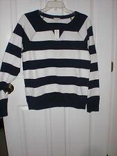 Gap Lightweight Striped Boat Neck Sweatshirt  Size S NWT
