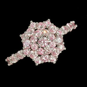1.3Ct Natural Pink Diamond 10K White Gold Ring Color Enhanced RPG127-10-7-2