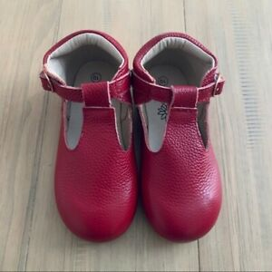 teg & lai Red T-Strap Shoes NWOT Toddler Girl Size 10