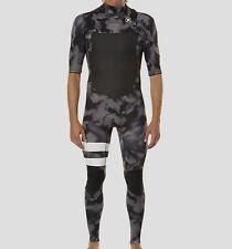 HURLEY Men's 202 FUSION S/S CZ Wetsuit - BLK A - Size XS - NWT