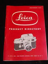 "Vintage Leica Camera Booklet ""Camera Product Directory"" Nov. 1955, 82 pgs."