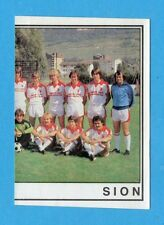 SVIZZERA -FOOTBALL 82 -PANINI -Figurina n.254- SQUADRA DX - SION -Rec