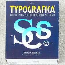 TYPOGRAFICA ADD-ON TYPEFACES - DTP PC SOFTWARE