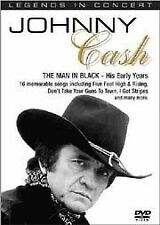 Johnny Cash - Man In Black - His Early Years (DVD) R-ALL, LIKE NEW, FREE POST