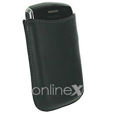 Funda Carcasa Piel PU Blackberry 9360 Color Negro  a1013