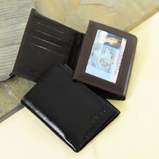 New Black or Brown Genuine Leather Lambskin Oxford Trifold Wallet Personalized