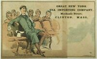 Great New York Tea Importing Company Clinton Mass MA The Darling Dude Trade Card