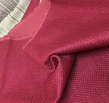LAURA ASHLEY RED WOVEN UPHOLSTERY FABRIC 0.9 METRES