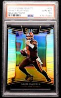 "2018 Baker Mayfield Rookie PSA 10 GEM MINT Select Silver Prizm #30 ""Flawless"""