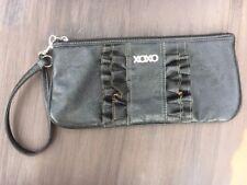 XOXO Black Large Wristlet Ruffle Front.
