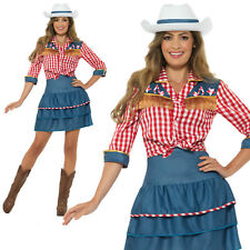 Rodeo Doll Costume Cowgirl Adult Womens Ladies Wild West Fancy Dress Outfit
