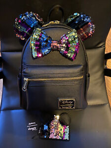 Loungefly Disney Minnie Mouse Sequin Mini Backpack