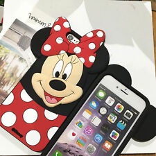 3D Cartoon Cute Minnie Mouse Silicone Rubber Back Case Cover For iPhone 7 Plus